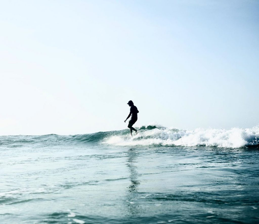 Belongil Beach Surfer